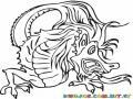 Dibujo De Dragon Chino Para Pintar Y Colorear