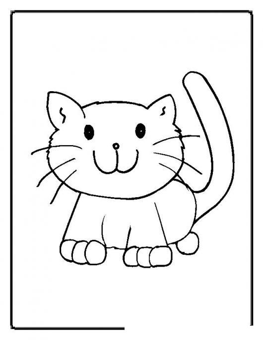 colorear gato bebe   COLOREAR GATOS   Dibujo para pintar y colorear ...