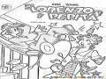 Dibujo De Lorenzo Y Pepita Parachoques Para Pintar Y Colorear