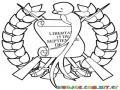 Dibujo Infantil Del Escudo De La Republica De Guatemala Para Iprimir Pintar Y Colorear