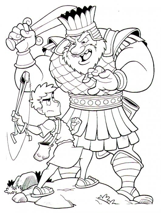David Y Goliat Coloring Pages David And Goliath Pictures To Color
