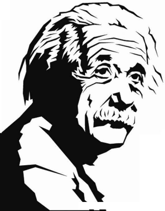 Dibujo De Albert Einstein Para Pintar Y Colorear   COLOREAR DIBUJOS DE