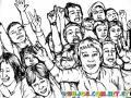 Dibujo De Publico En Un Concierto Para Pintar Y Colorear