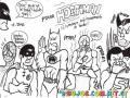 Dibujo De Pedo De Super Heroes Para Pintar Y Colorear Snatos Pedotes Batman
