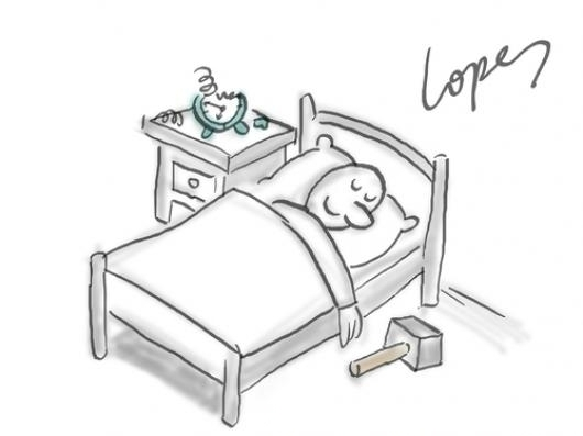 Dibujo Para Colorear Snoozer A La Mano Para Callar Al Reloj ...
