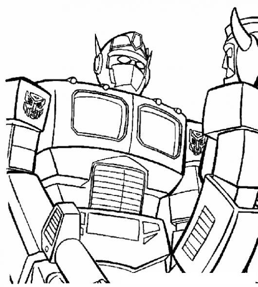 Dibujo De Optimus Prime Transformers Para Pintar Y Colorear