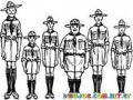 Dibujo De Muchacho Exploradores Boyscouts Para Pintar Y Colorear