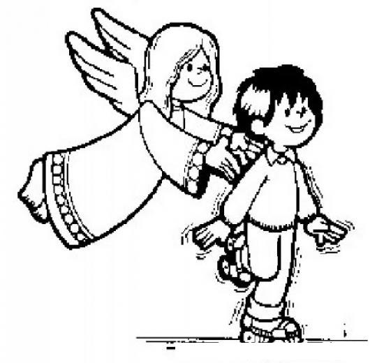 Dibujo De Angel De La Guardia Para Pintar Y Colorear Angel De La ...