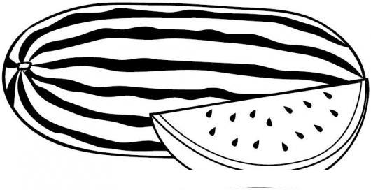 Sandia Para Pintar Y Colorear Dibujos De Sandias  COLOREAR