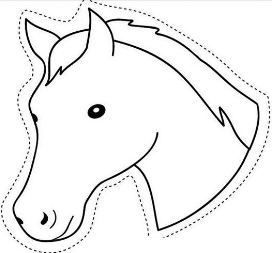Worksheet. Cabeza De Caballo Para Imprimir Recortar Y Colorear  COLOREAR
