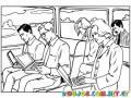 Dibujo De Universitarios Con Laptops Para Pintar Y Colorear