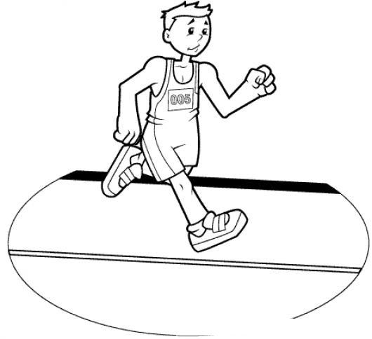 Dibujo De Maratonista Corriendo Para Pintar Y Colorear Chico ...