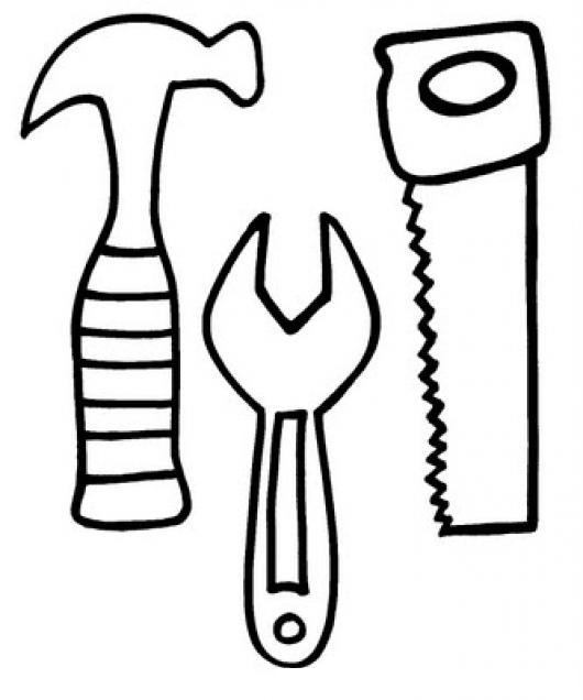 Dibujos de cholo dibujo de herramientas de carpintero martillo llave