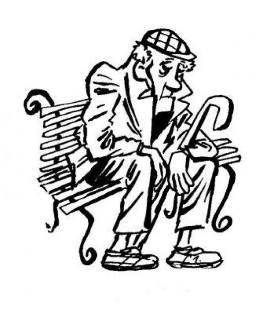 Dibujo De Un Anciano Adulto Mayor Para Pintar Y Colorear ...