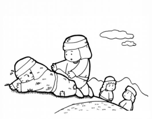 Dibujo Del Buen Samaritano Para Pintar Y Colorear | COLOREAR DIBUJOS ...
