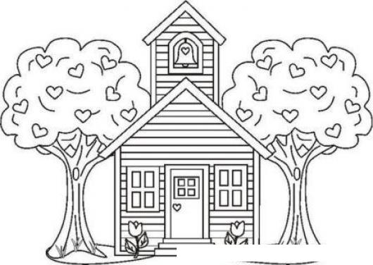 colorear casa | COLOREAR CASAS | Dibujo para colorear una casa con ...