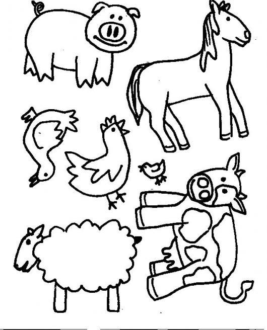 Animales Del Campo Para Pintar Y Colorear | COLOREAR DIBUJOS DE ...