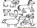 Animales Del Campo Para Pintar Y Colorear