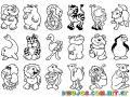 Dibujo De Animales Del Zoologico Para Pintar Y Colorear