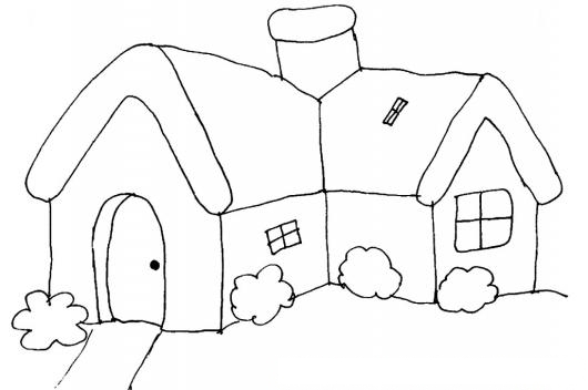 Pintar Casa en forma de ele | COLOREAR CASAS | dibujo para pintar ...