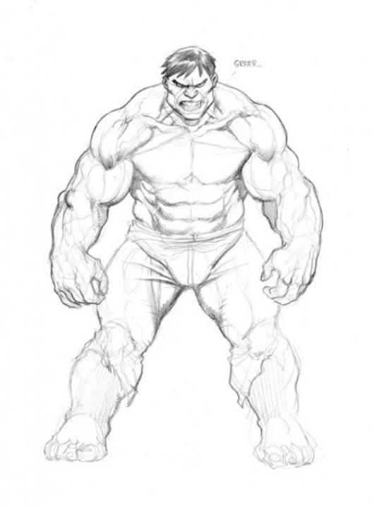Dibujo Del Increible Hulk Para Pintar Y Colorear A Hulck | COLOREAR ...
