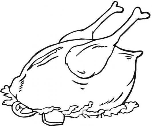 Dibujo pollo asado para colorear   Imagui