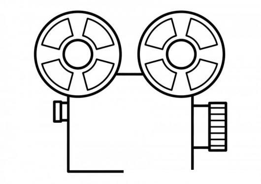 Dibujo De Proyector De Peliculas De Cine Para Pintar Y Colorear