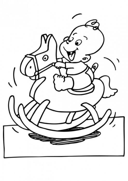 bebe montando un caballo para pintar | COLOREAR CABALLOS | un bebe ...