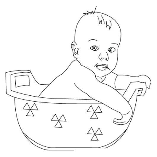 Dibujo de bebe en banera para pintar y colorear bebe - Pintar una banera ...