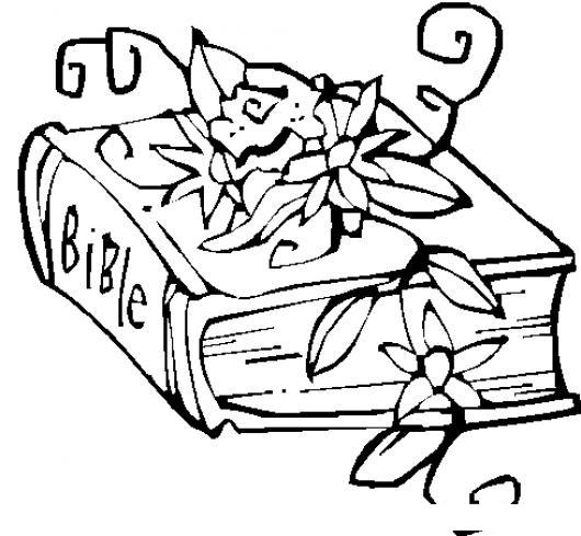 Dibujo De La Biblia Con Flores Para Pintar Y Colorear  COLOREAR
