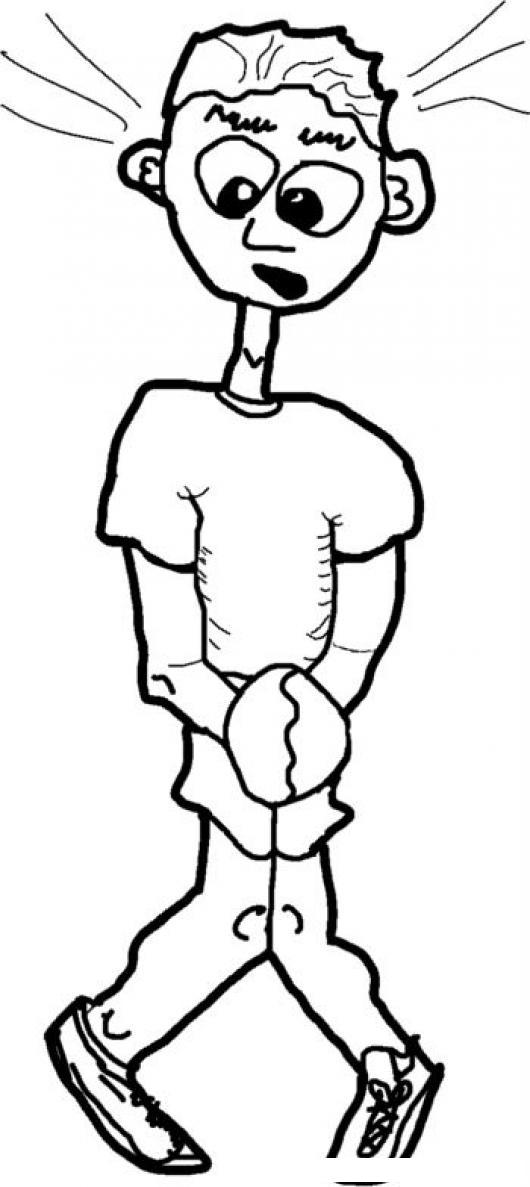 Imagenes De Ir Al Baño Para Ninos:Dibujo De Nino Pidiendo Permiso Para Ir Al Bano a punto de orinarse ya