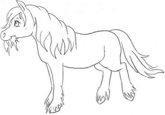 Caballito Comiendo Pasto Dibujo De Pony Comiendo Monte ...