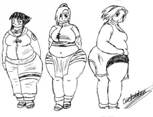 Dibujo De Chicas Gordas Y Obesas Para Pintar Y Colorear Gorditas ...