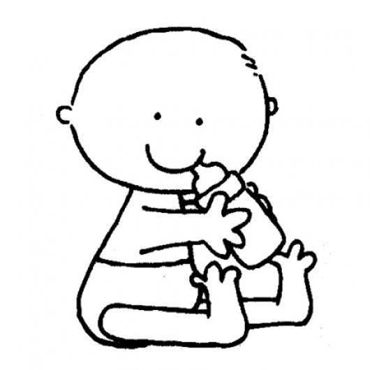 Dibujo de bebe con pacha para imprimir pintar y colorear - Dibujos pared bebe ...