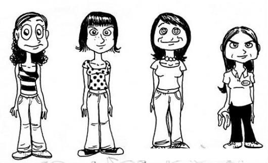 Chicas Para Colorear. Great Chica Bratz Con Vestido De Noche. Dibujo ...
