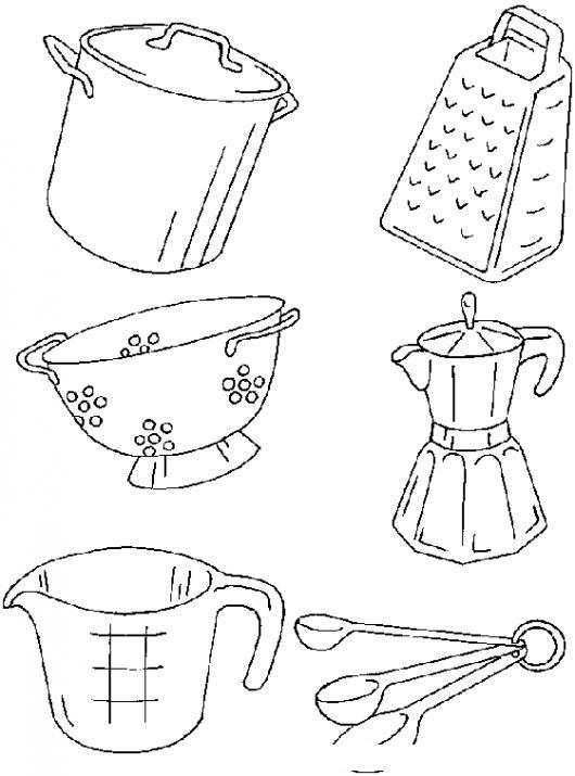 Imagenes para imprimir de utensilios de cocina imagui - Dibujos de cocina para colorear ...
