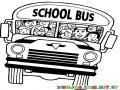 Dibujo De Bus Repleto De Gente Para Pintar Y Colorear Busito Escolar Lleno De Estudiantes
