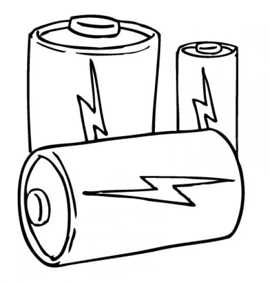 Dibujo De Baterias Alcalinas Aa Y Aaa Para Pintar Y Colorear