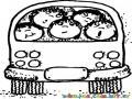 Dibujo De Familia Viajando En Una Panelita Volkswagen Para Pintar Y Colorear