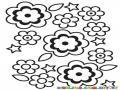 Colorear Hoja De Flores Para Imprimir Y Pintar